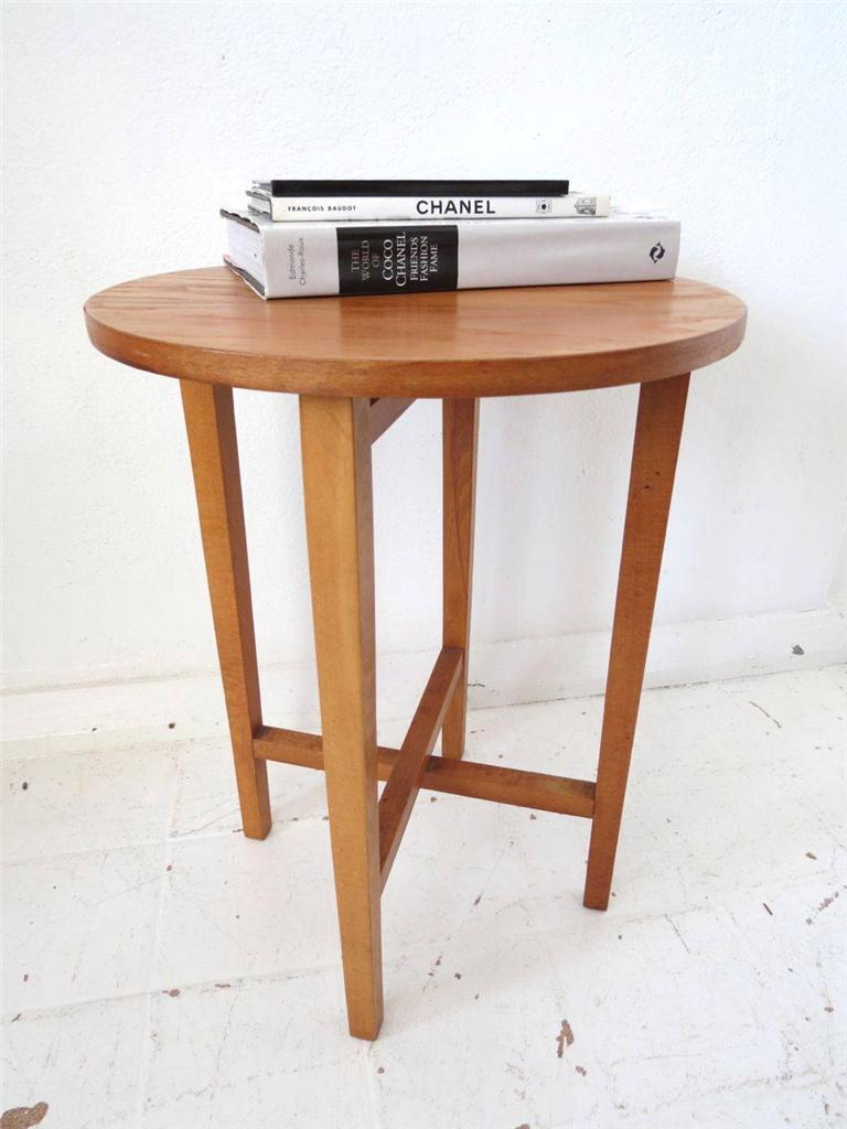 Vintage Mid Century Coffee Table Or Modernist Side Table Wooden Fold Up Table