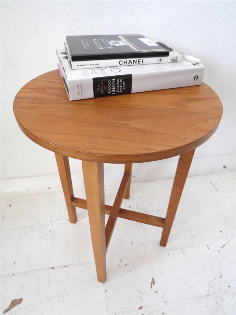 Vintage Mid Century Coffee Table Or Modernist Side Table Wooden Fold Up Table Ebay