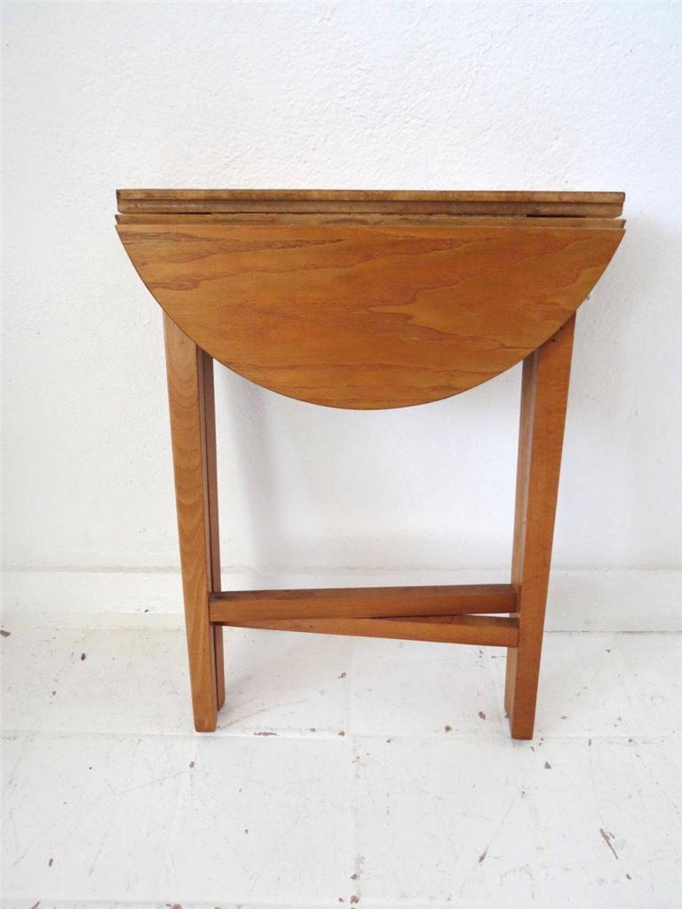 A Lovely Round Shape Side Table With Great Fold Up Option Dating From Around The 1950 39 S 60 39 S