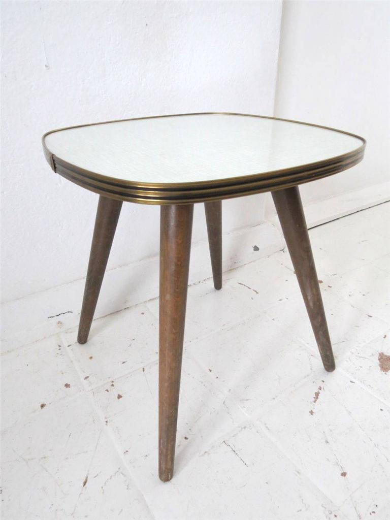 Vintage side table or coffee table melamine formica or milking stool ebay Formica coffee table
