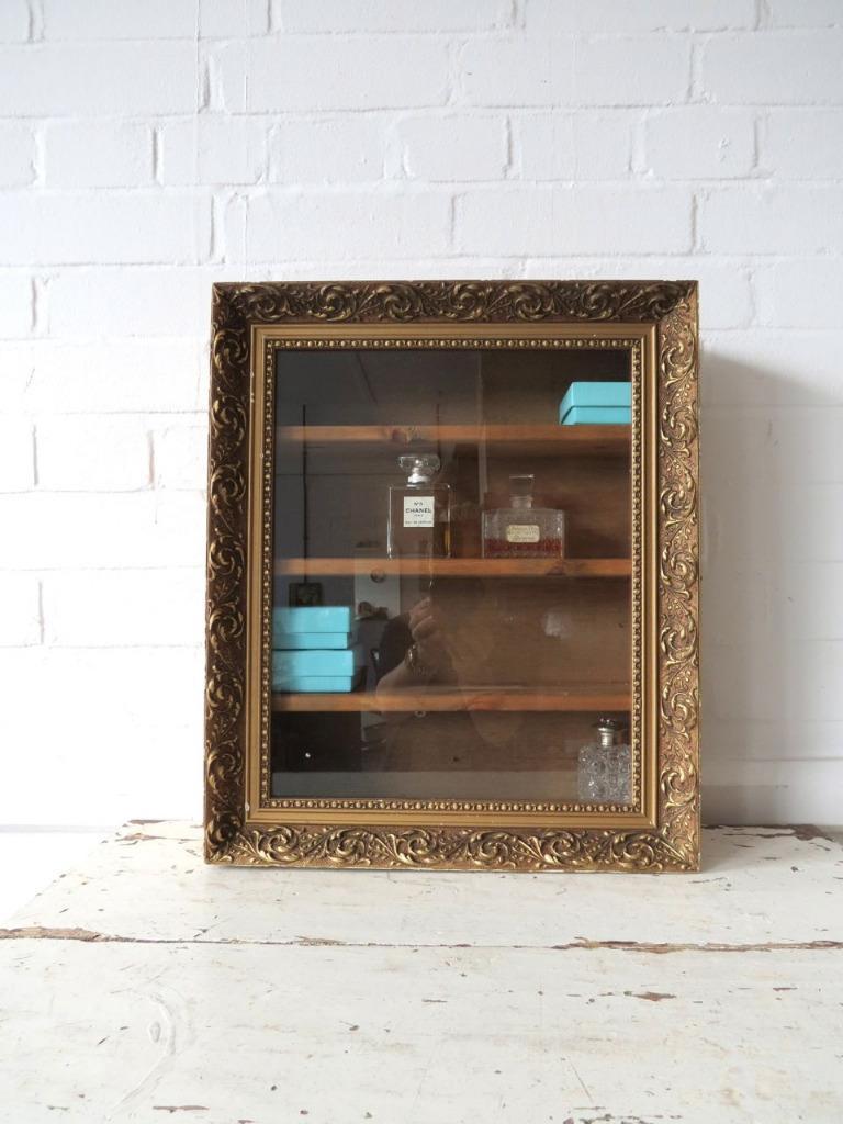 vintage bathroom wall cabinet or glass display ebay