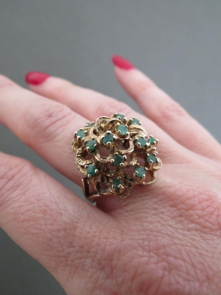 vintage 9ct gold emerald ring ebay
