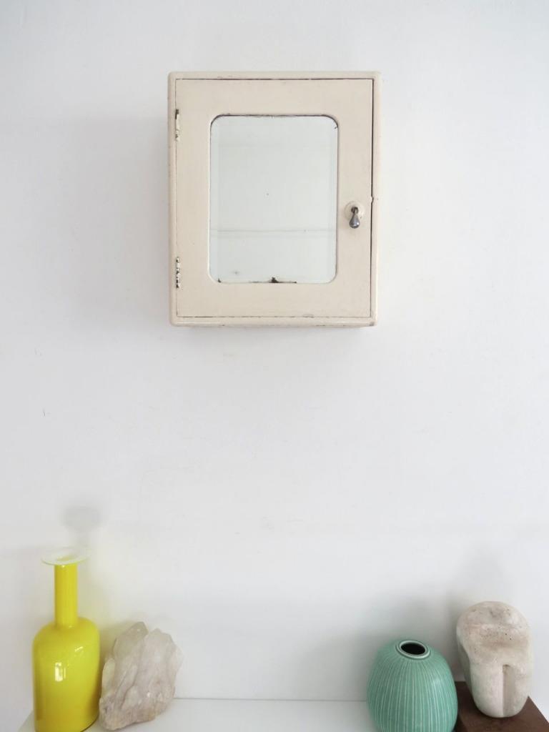 vintage bathroom wall cabinet cupboard art deco mirrored ebay
