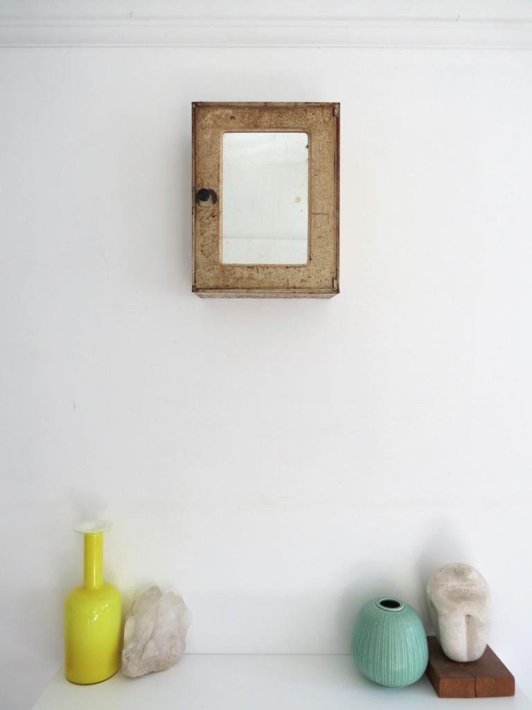 Wall Metal Art For Bathroom : Vintage bathroom wall cabinet cupboard art deco metal