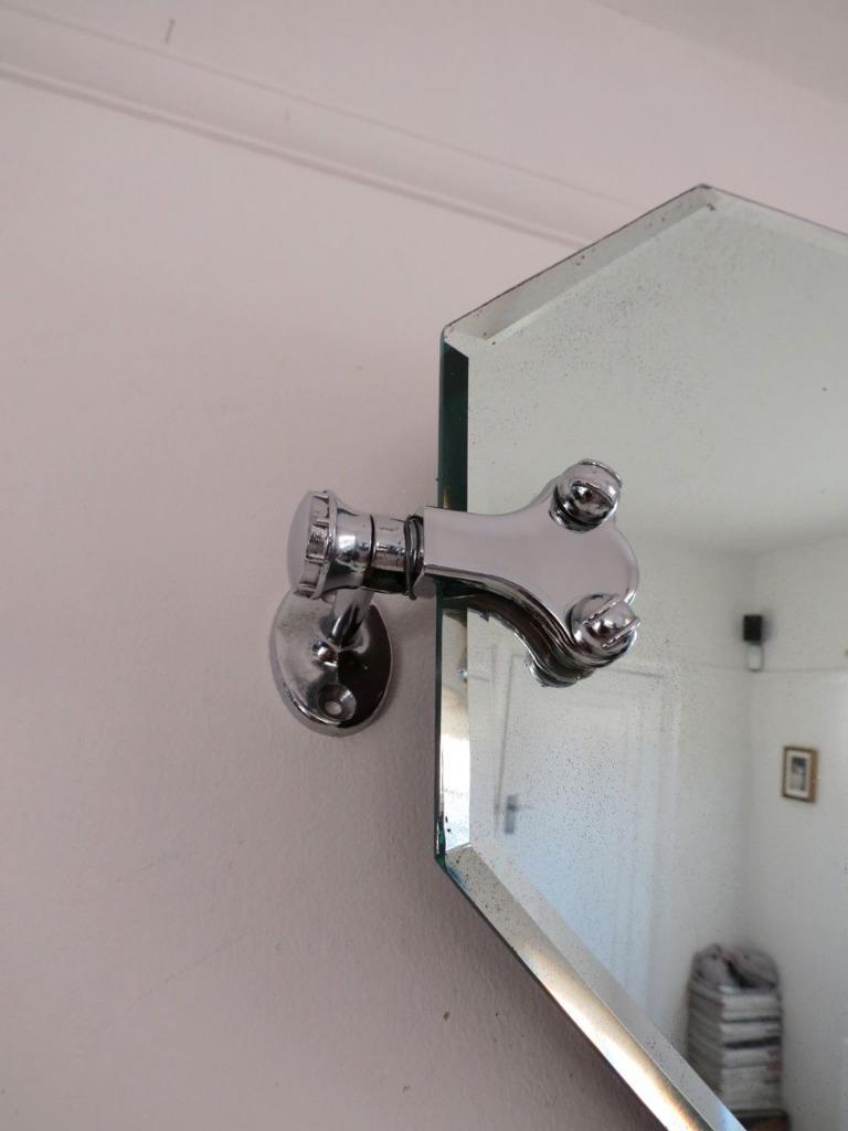 Swivel mirror bathroom vintage art deco chrome swivel for Oval swivel bathroom mirror