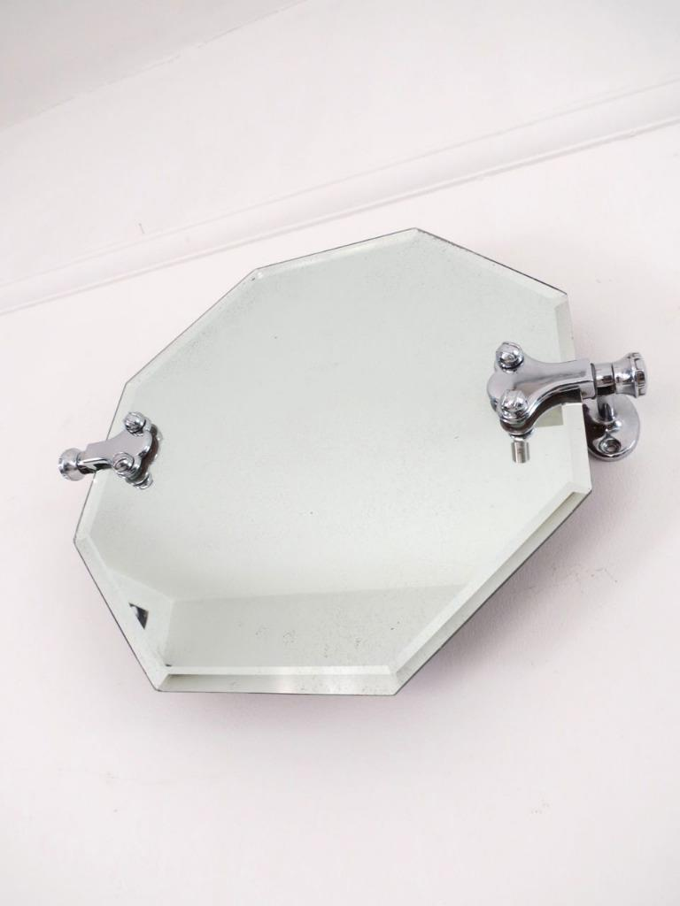 Vintage Art Deco Chrome Swivel Bathroom Mirror : eBay