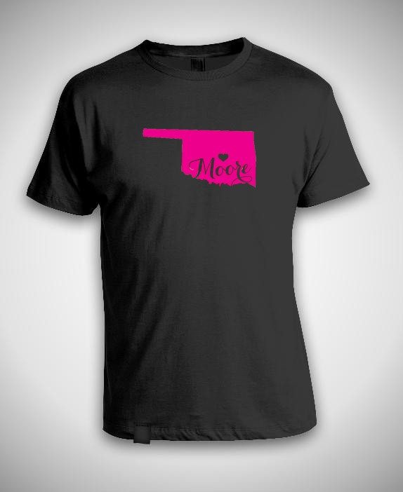 Support moore ok t shirt oklahoma tornado natural disaster for Sell t shirts for charity