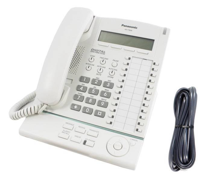 panasonic kx t7630 white phone 5025232231591 ebay rh ebay com panasonic kx-t7630 operating manual Panasonic Cordless Phone User Manual
