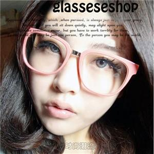 hot retro simple square big frame metal legs eyeglasses glasses frame spectacles ebay