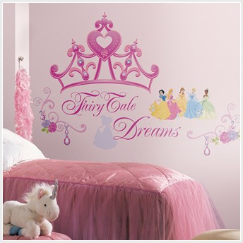 Disney princess wall decals 20 styles to choose from for Disney princess mural stickers
