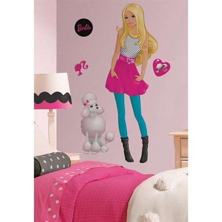 Barbie Doll Wall Decals Big Room Decor Sticker Sets