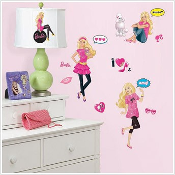BARBIE DOLL WALL DECALS - BiG Room Decor Sticker Sets ...