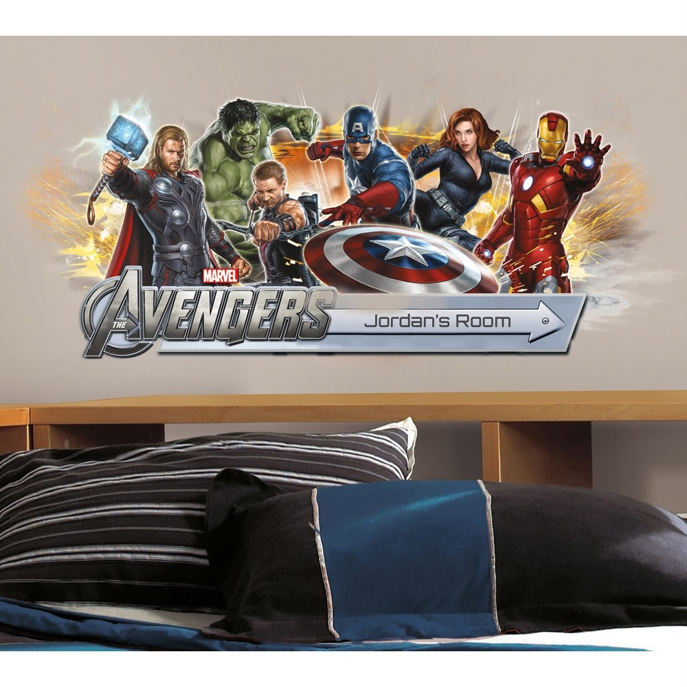 The avengers giant wall stickers choose from 9 styles room decor decals marvel ebay - Avengers room decor ideas ...