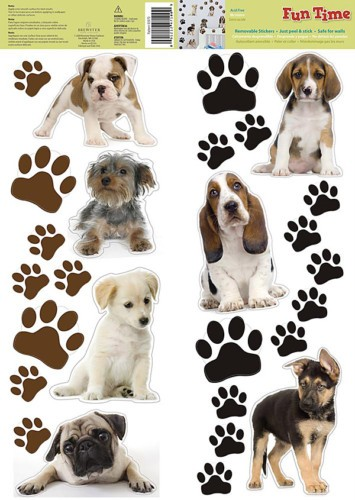 PUPPY DOG 27 Removable Wall Decals Puppies Paw Prints Room Decor Stickers in Home & Garden, Home Decor, Decals, Stickers & Vinyl Art | eBay