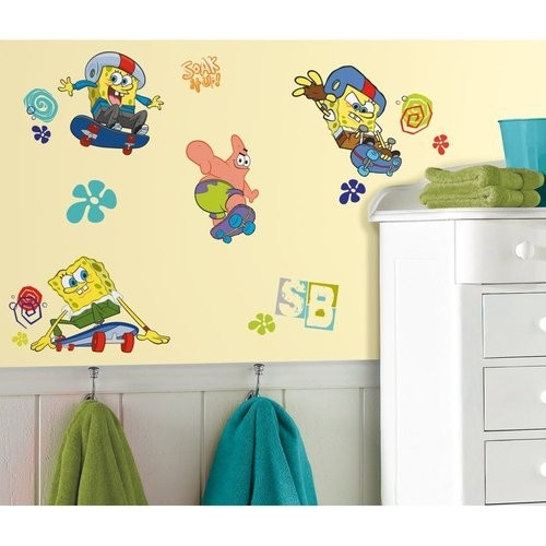 Spongebob Big Wall Stickers Look Choose From 4 Styles
