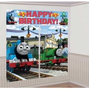 thomas the train scene setter birthday party wall. Black Bedroom Furniture Sets. Home Design Ideas