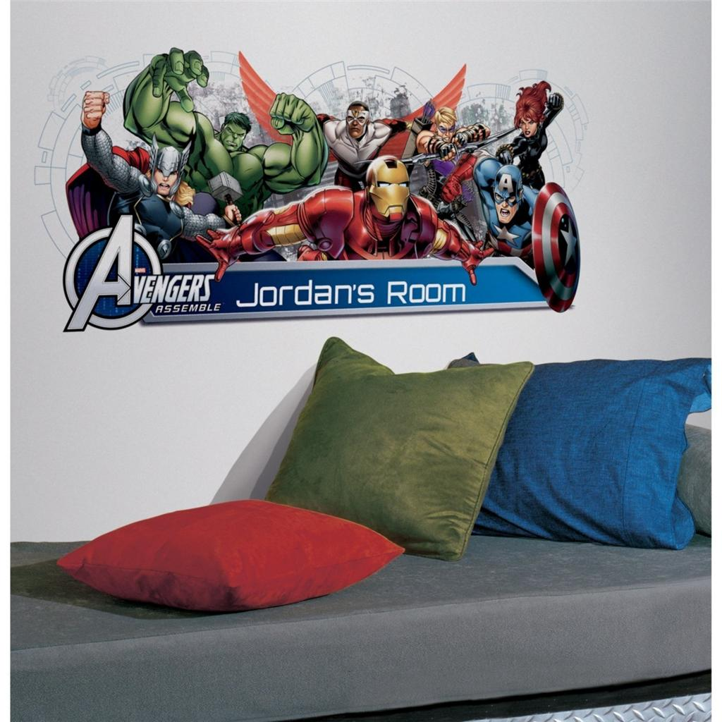 AVENGERS-ASSEMBLE-Personalized-Wall-Mural-108-Decals-Iron-Man-Hulk-Room-Stickers