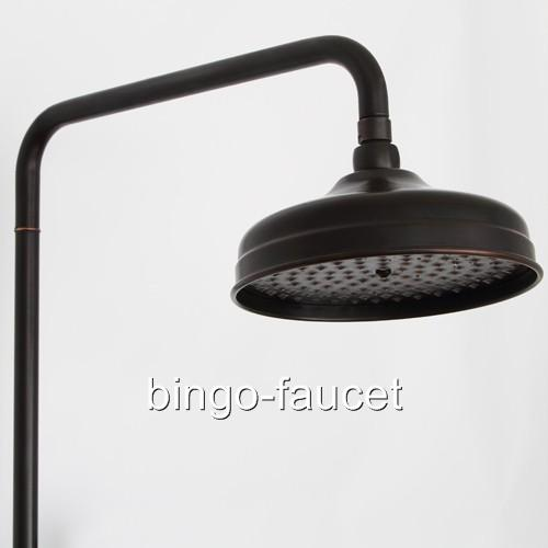 Oil Rubbed Bronze Bar Shower Faucet With Rain Head Handheld Showerhead K88 T