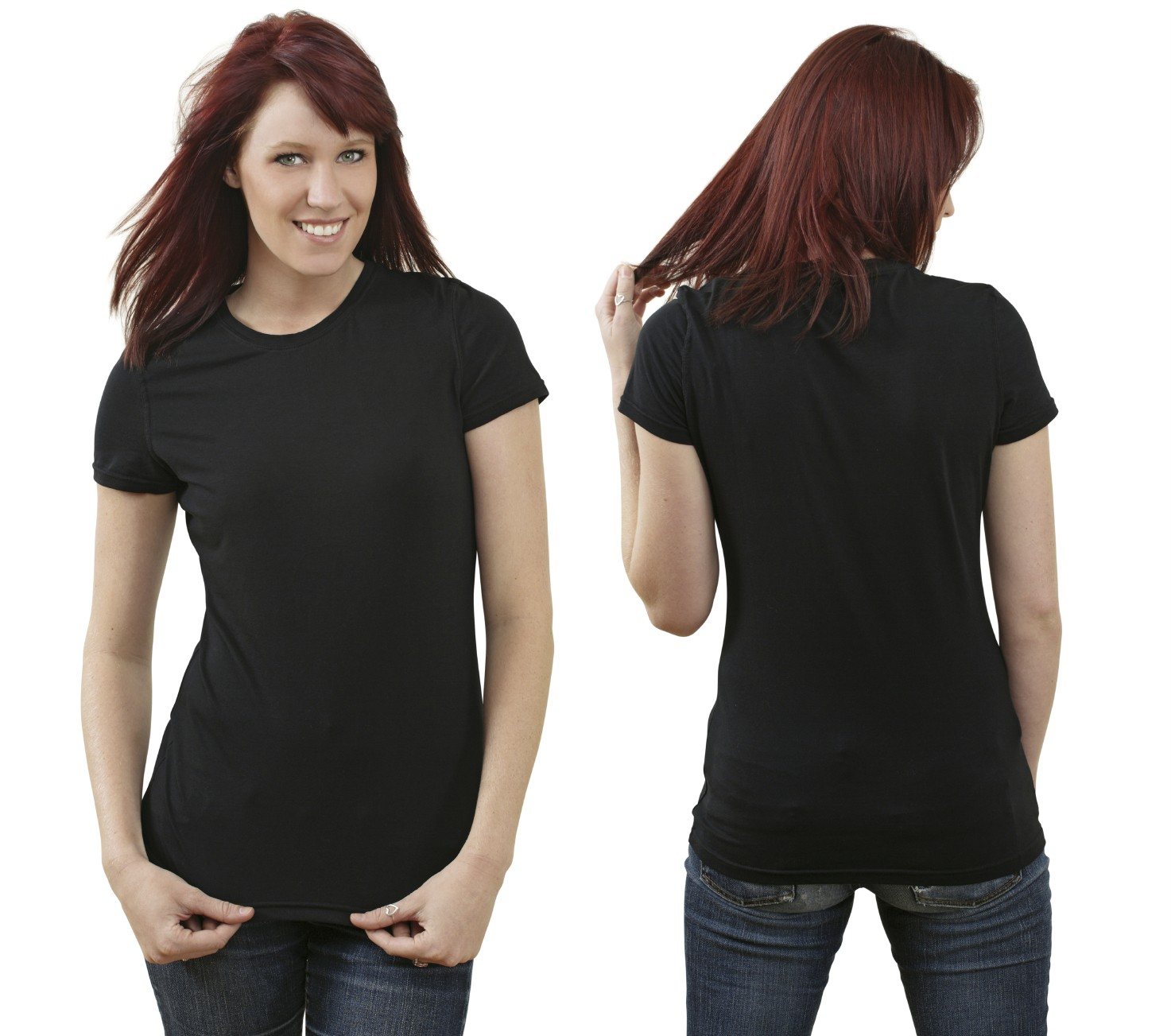black t shirt model woman - photo #8