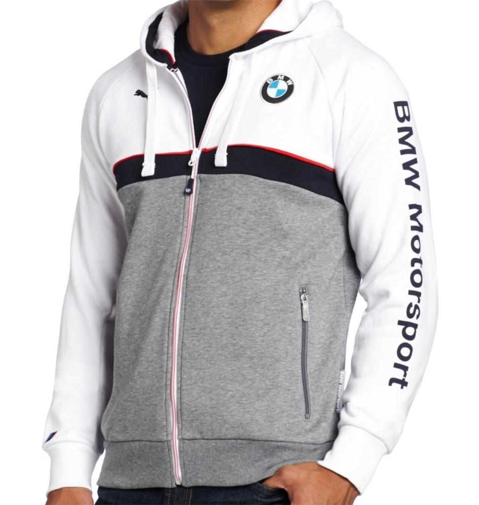 New Puma Bmw Motorsport Mens Zipper Motorcycle Hoodie