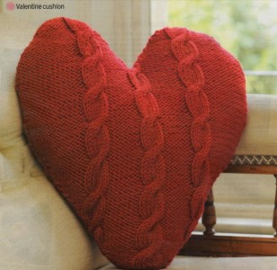 Knitting Pattern Heart Cushion : Knitting Pattern for Cable Valentine Heart Shaped Cushion Cover eBay