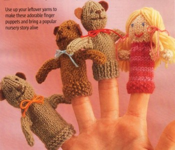 Knitting Patterns Toys Finger Puppets : Toy Knitting Pattern - Goldilocks and the Three Bears Finger Puppets! eBay