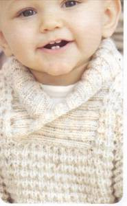 Babies Knitting Pattern Baby Boys Shawl Collar Cardigan