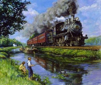 wall-prints-art-trains-16inchx-20inch-set-of-2