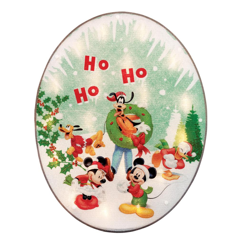 Disney mickey mouse lighted window decoration christmas for Decoration noel mickey