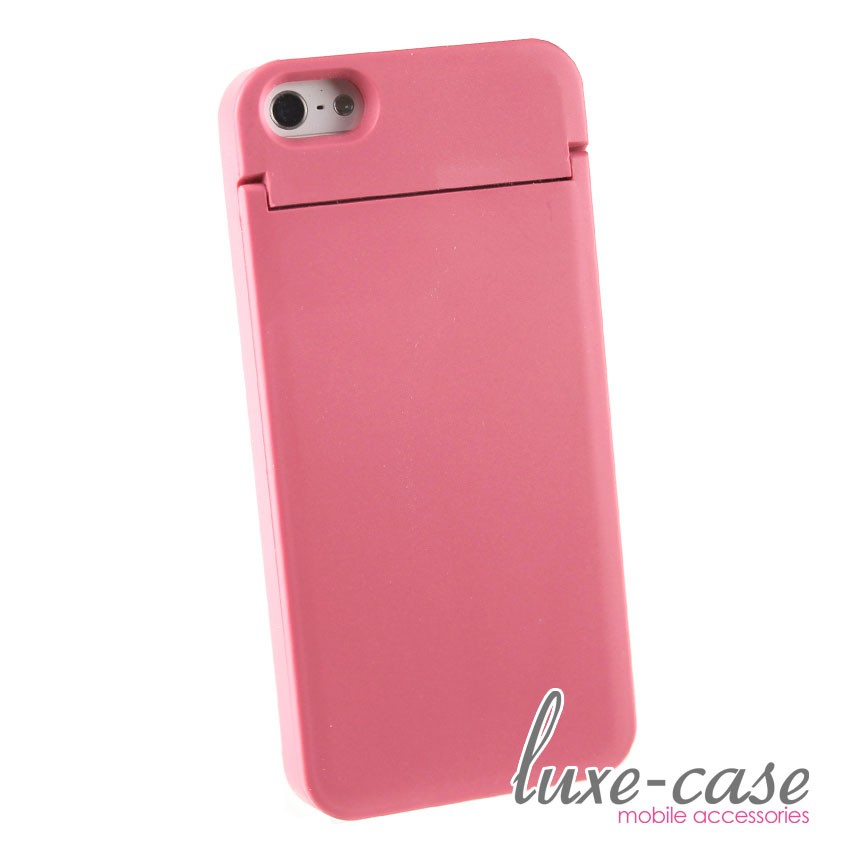 Stowaway Vanity Mirror iPhone 5 Case Card Holder Wallet Coral Pink Girly Sleek eBay