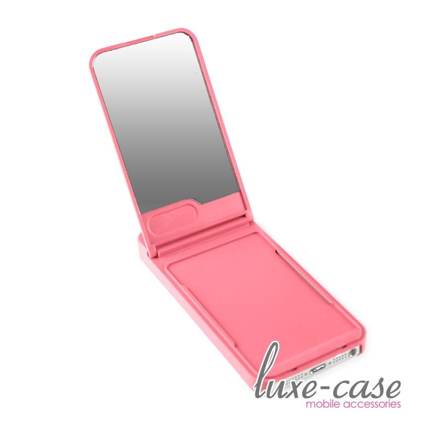 Vanity Light Case For Iphone : Stowaway Vanity Mirror iPhone 5 Case Card Holder Wallet Coral Pink Girly Sleek eBay