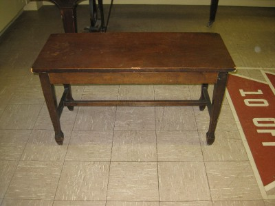 Vintage Antique Piano Bench Charles Parker Co
