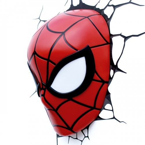 Marvel Wall Lights Spiderman : Marvel Avengers Superhero Spiderman Mask 3D Deco Art Wall Night Light NIB eBay