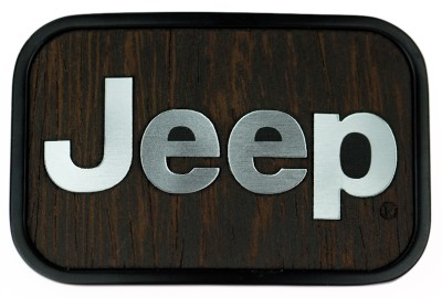 Jeep Logo Wooden Walnut Frame Official Licensed高清图片