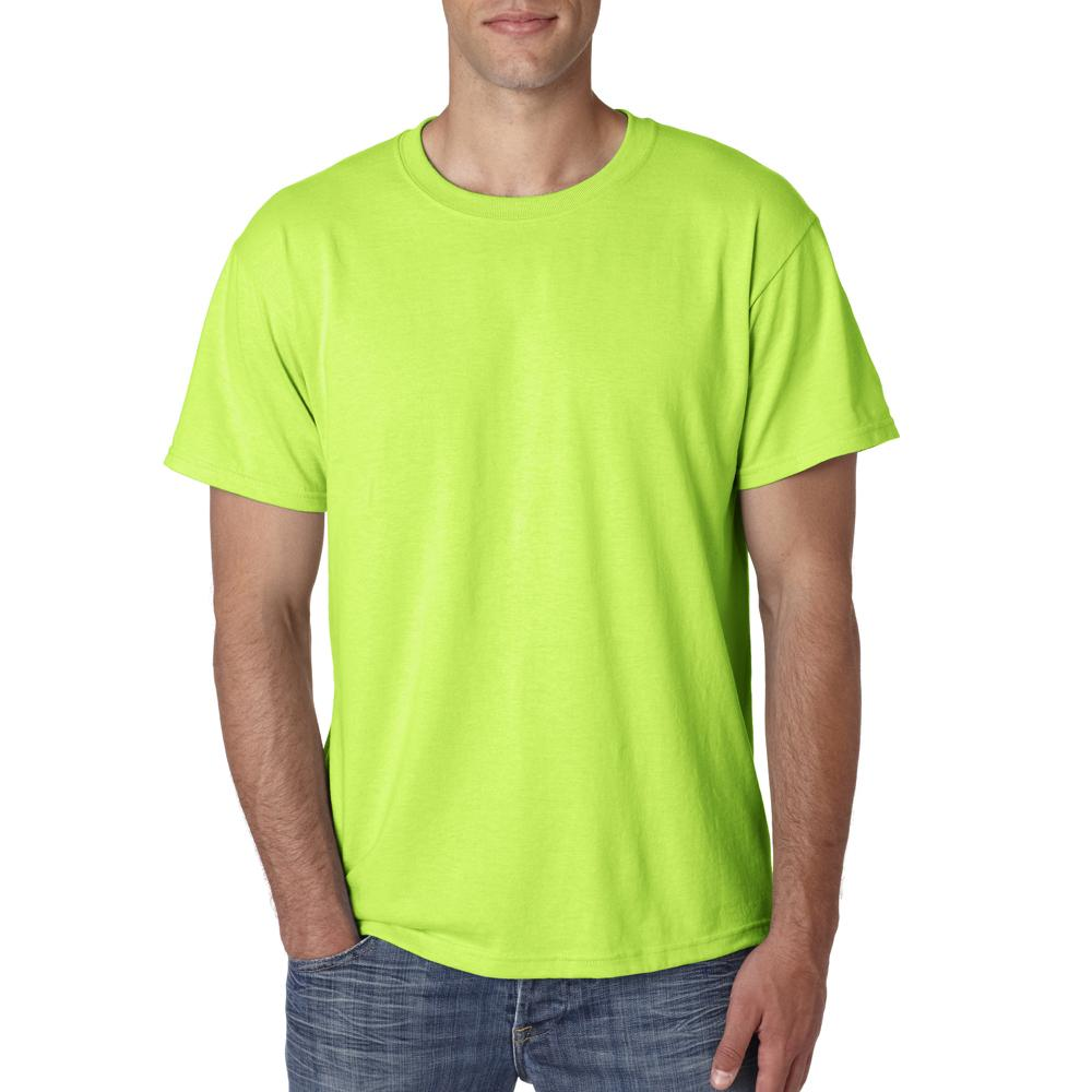 Safety Green Neon Men 39 S Short Sleeve T Shirt Tee Solid