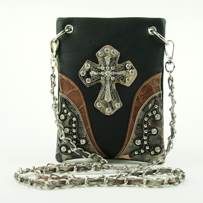 Cross Camo Rhinestone Crossbody Mini Messenger Bag Western ...