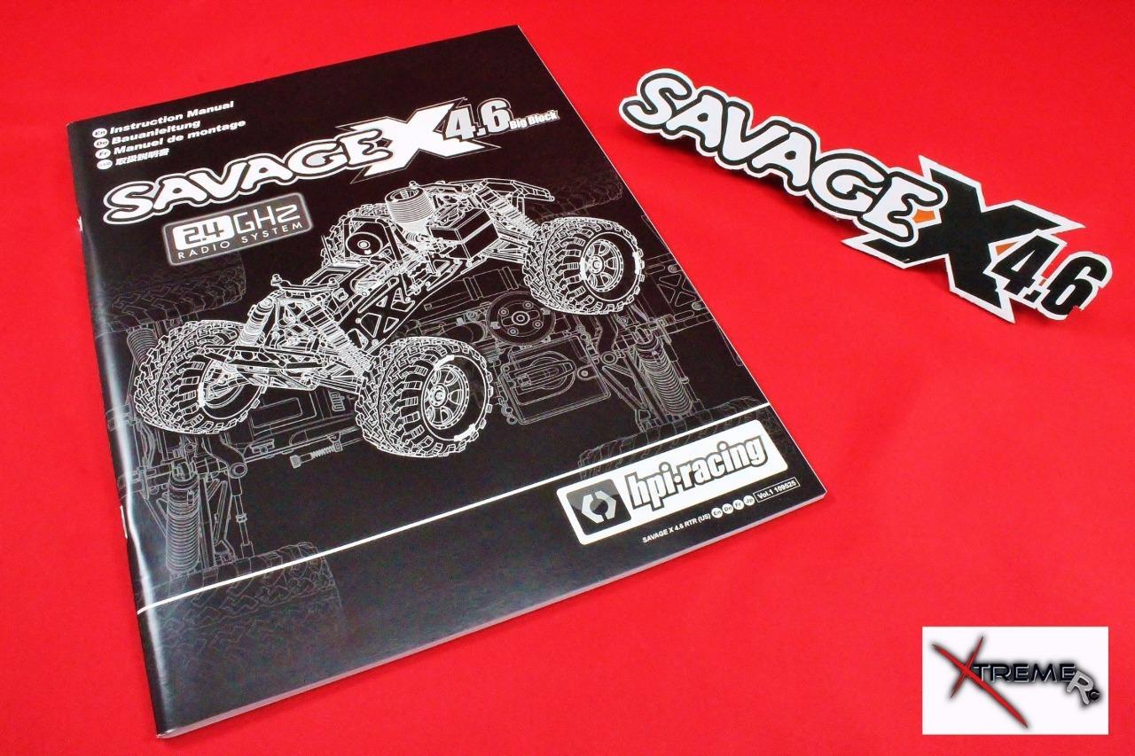 hpi savage x 4.6 rtr manual