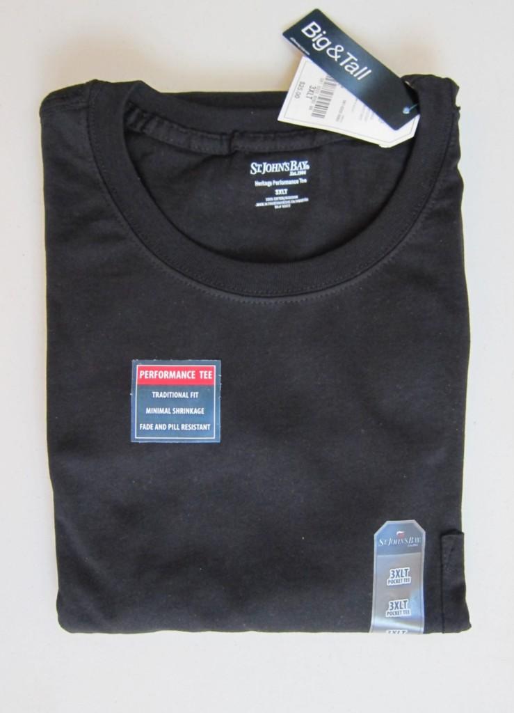 Nwt mens st johns bay plain t shirt pocket 2xl 2xlt 3xl for Mens 2xl tall shirts