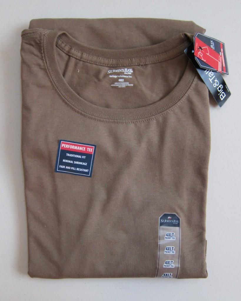 Nwt Mens St Johns Bay Plain T Shirt Pocket 2xl 2xlt 3xl