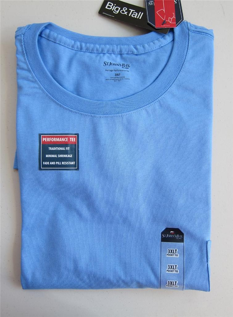nwt mens st john 39 s bay pocket t shirt solid big tall