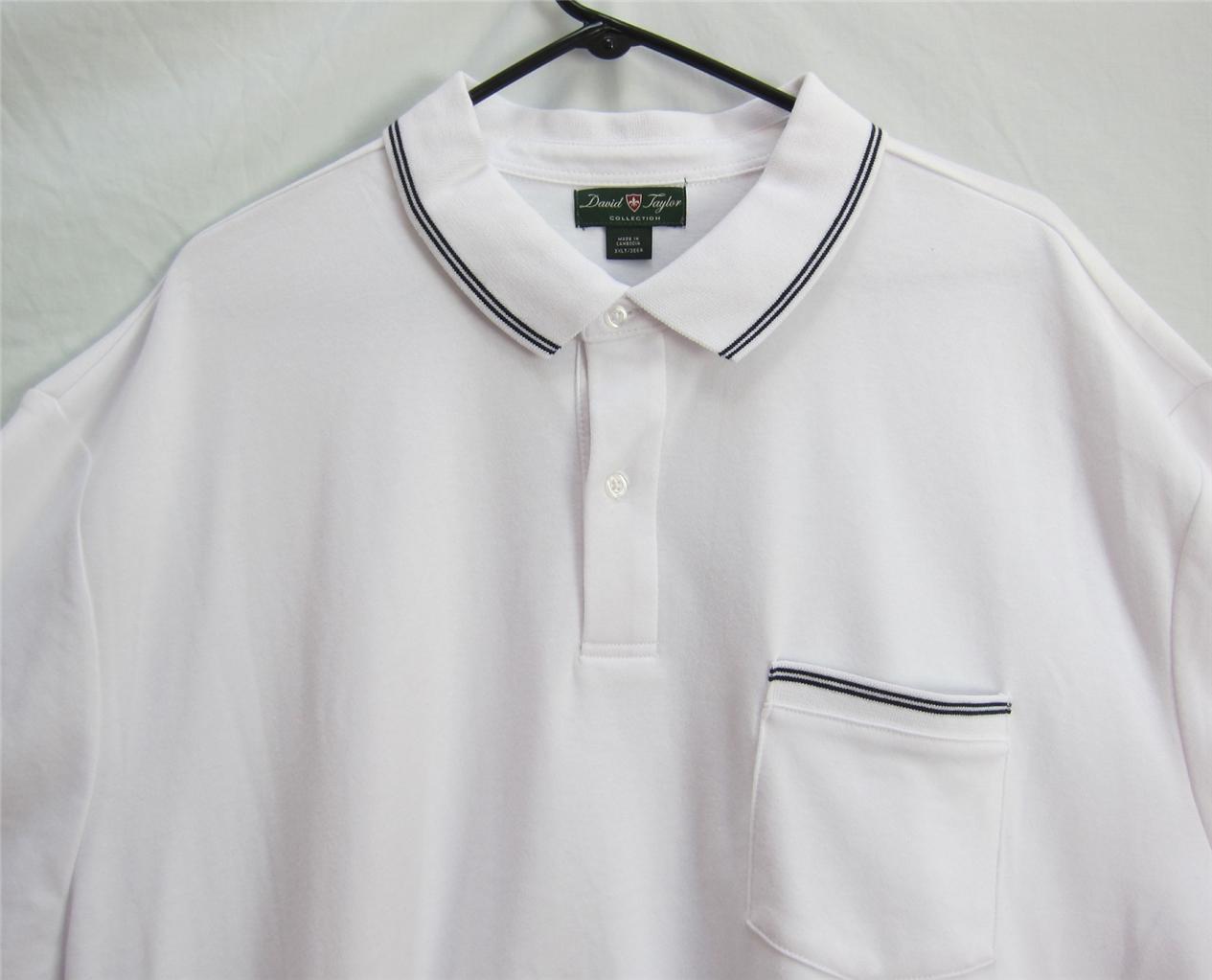 nwt mens david taylor polo shirt big tall 3xl 3xlt 4xl