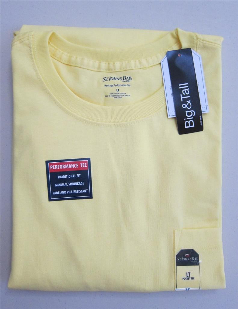 Nwt mens st john 39 s bay t shirt pocket 2xl 3xl 4xl for South bay t shirts