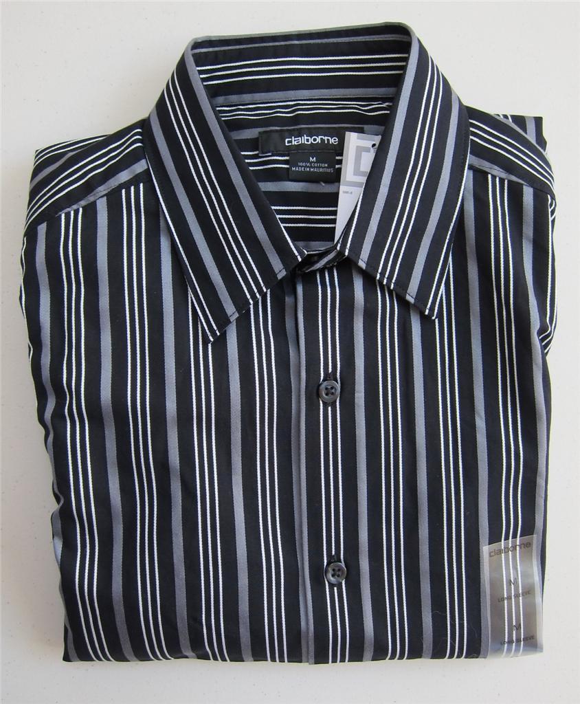 nwt mens liz claiborne dress shirt long sleeve m l xl