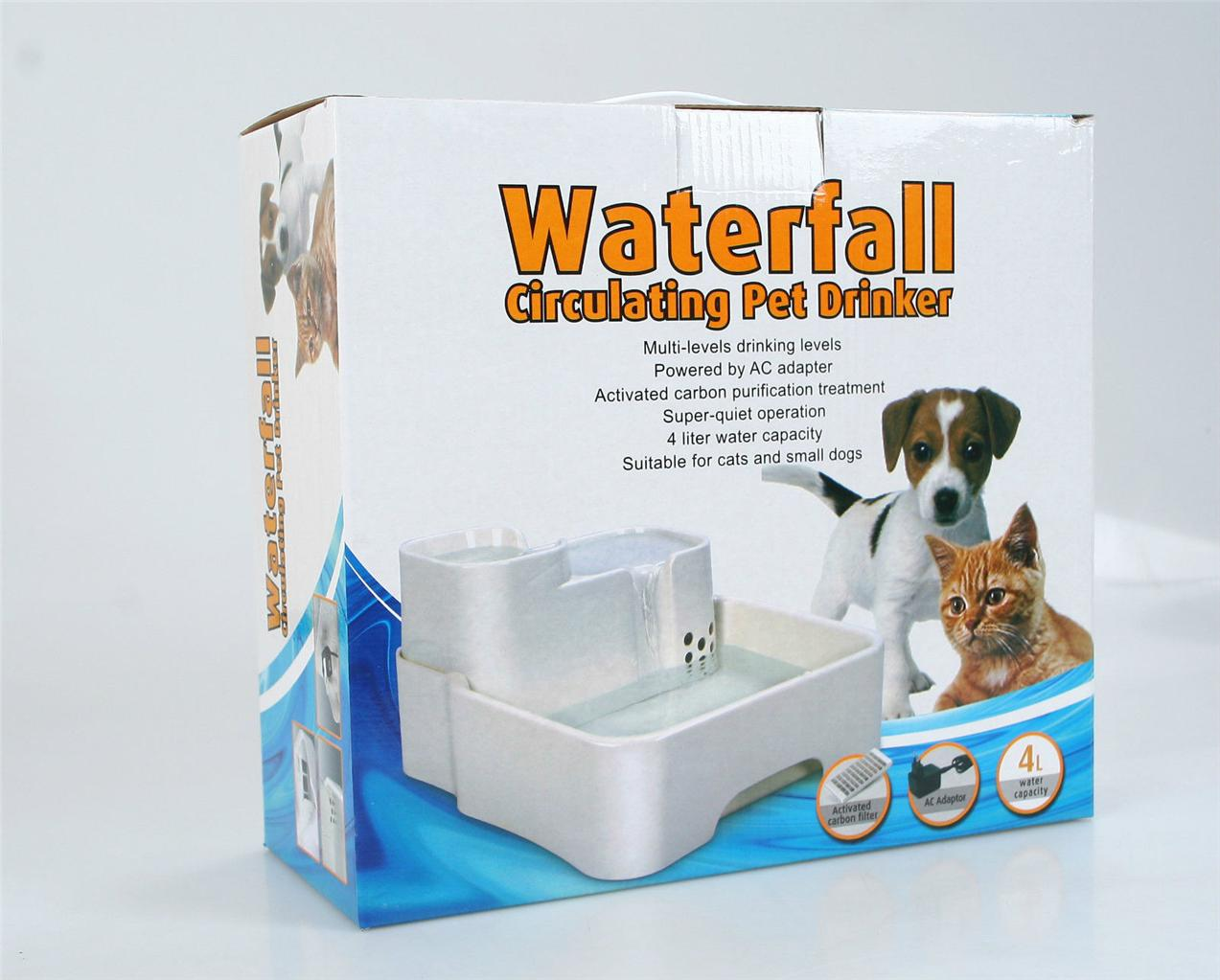 4 5l pet waterfall drinking fountain fresh running water for Decor 5 5 litre drink fountain