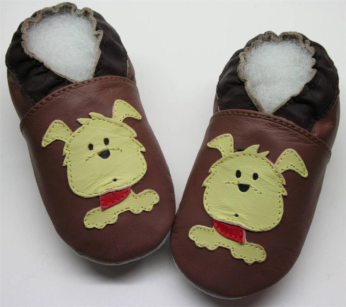 Lederpuschen-Krabbelpuschen-Hausschuhe-Krabbelschuhe-Leder-Kinder-Schuhe