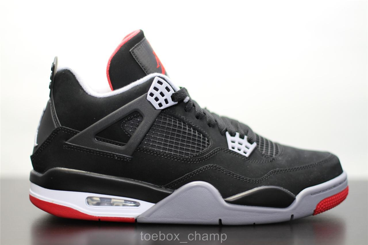nike air jordan 4 iv retro bred 2012 black cement grey. Black Bedroom Furniture Sets. Home Design Ideas