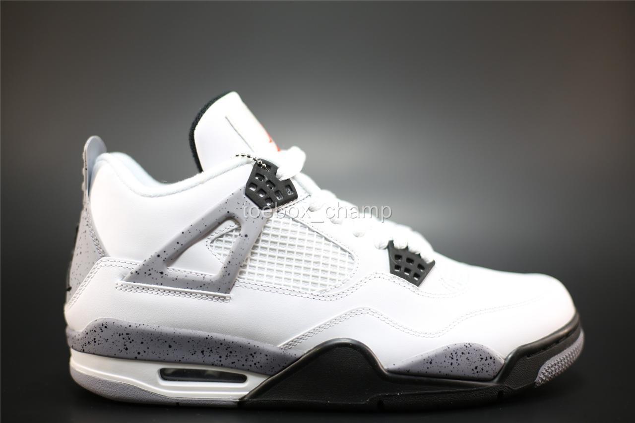 Image is loading Nike-Air-Jordan-4-IV-Retro-White-Black-