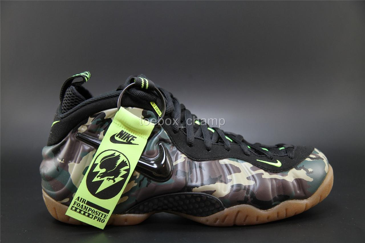 Nike Air Foamposite Pro Army Camo - 587547 300 - Size 9 ...
