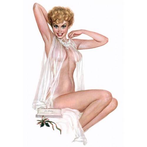 NEW Retro Pin Up Girl Blonde With See Through Negligee Vintage ...
