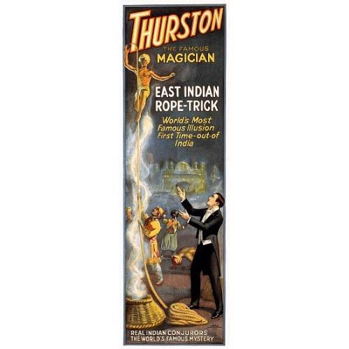 New Vintage Thurston Great East Indian Rope Trick Magic Poster Decor Wall Art Ebay